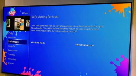 Learn how to use Sky Q Children Secure Mode