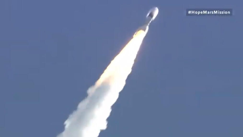 Hope Mars probe is headed for the purple planet after image good launch