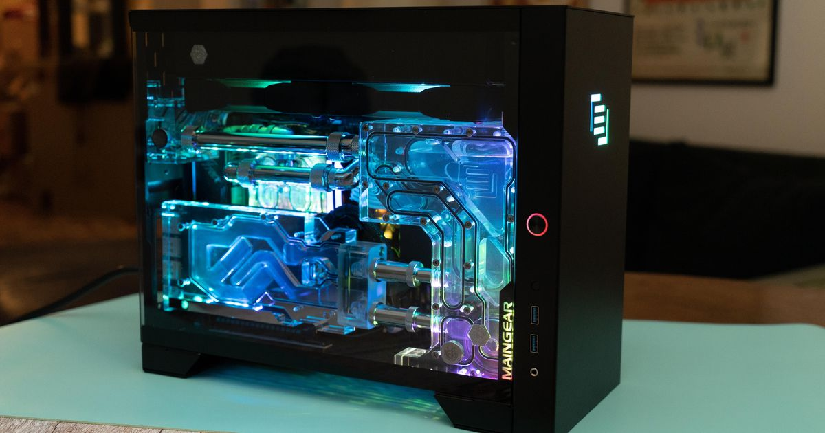 Maingear Turbo gaming PC overview: A metal and glass minitower of energy