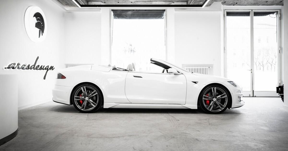 Ares constructed the convertible, 2-door Tesla Mannequin S convertible we did not know we wanted