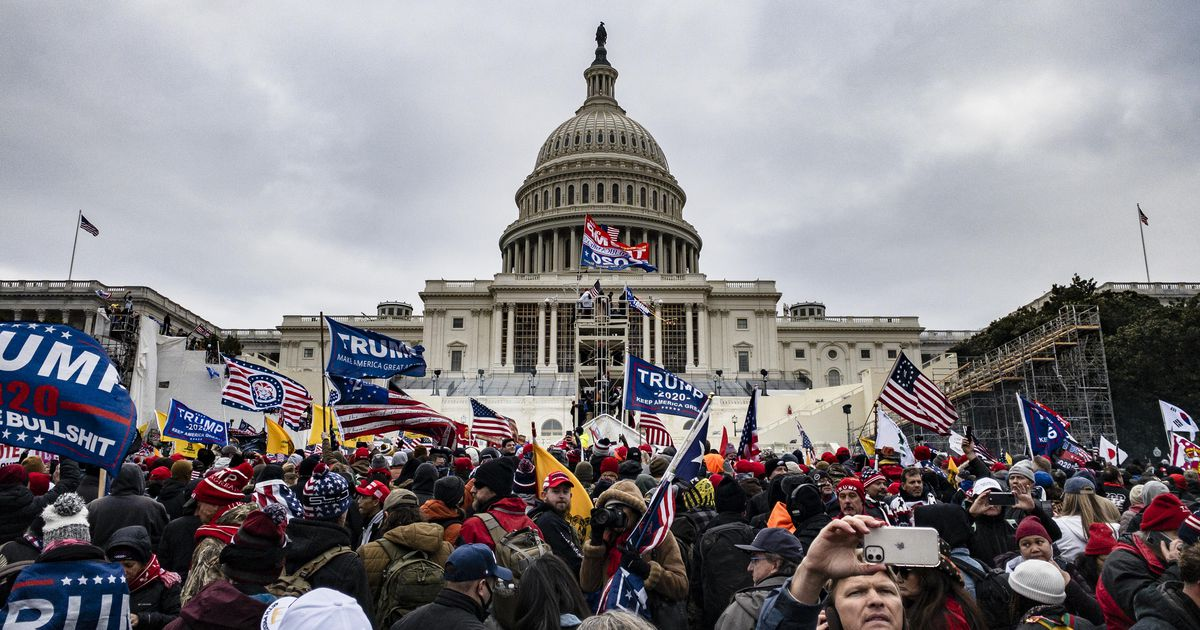 Mob storms Capitol, forcing halt of election vote rely