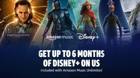 Grab 6 months of Disney+ free with Amazon Music Unlimited
