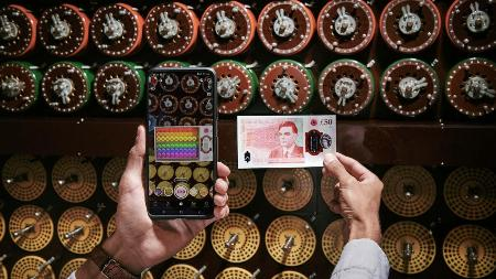 Bring Turing's Invention To Life On The £50 In Snapchat