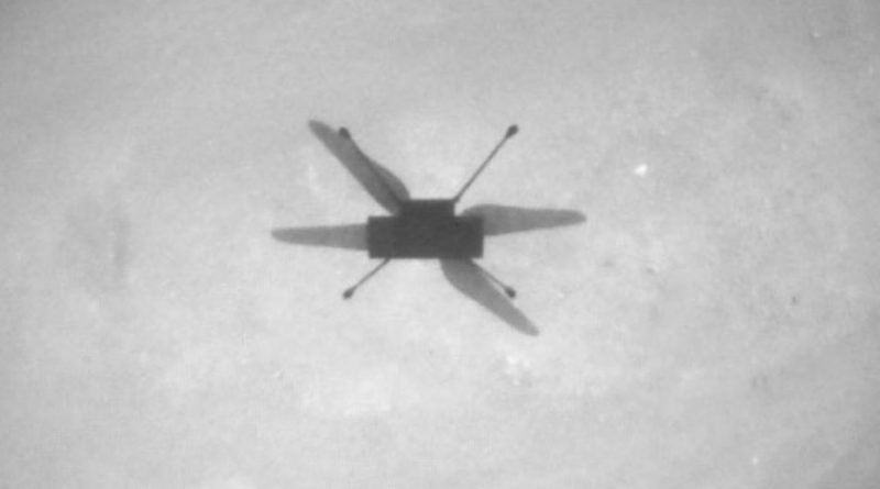 NASA Ingenuity helicopter zooms low across Mars in lucky flight 13